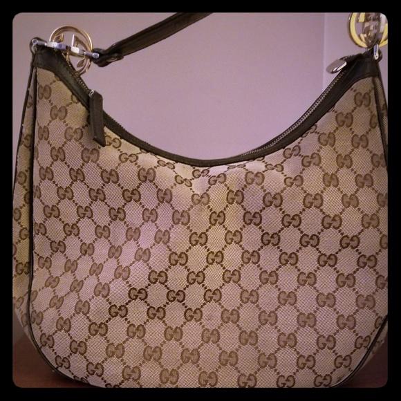 e46bcd22b0b8 Gucci Bags | Monogram Gg Twins Medium Hobo | Poshmark
